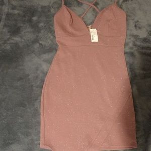 Mauve Tank Glitter Dress